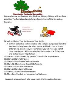 Parkpalooza May 9th at 9am